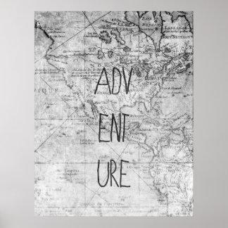 Mapa da aventura pôster