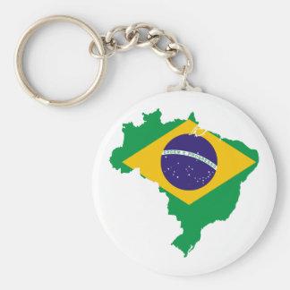 mapa da bandeira de Brasil Chaveiro