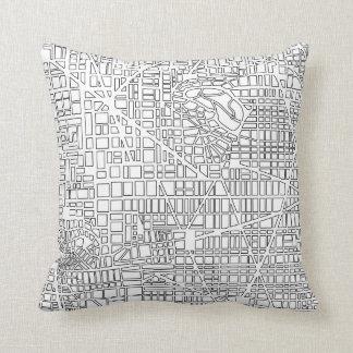 Mapa da cidade do fundo almofada