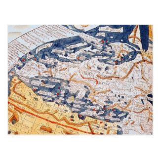 Mapa da Europa Central, 1486 Cartão Postal