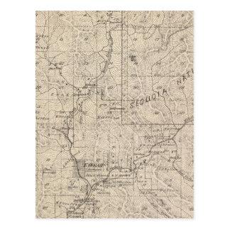 Mapa da seção de T1617S R2829E Tulare County Cartão Postal