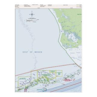 Mapa das chaves de Florida Cartão Postal