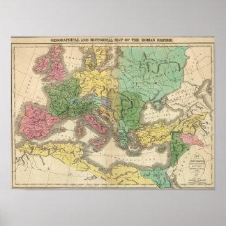 Mapa das províncias no império romano pôster