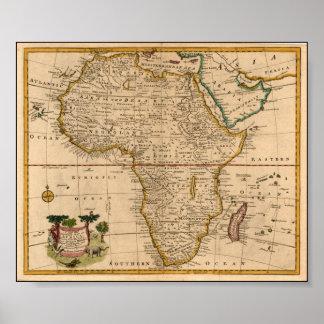 mapa de África do final do século XIX Poster