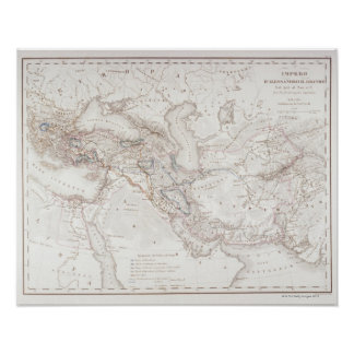 Mapa de Alexander o império dos excelentes Poster