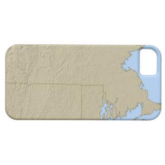 Mapa de alivio de Massachusetts Capa Barely There Para iPhone 5