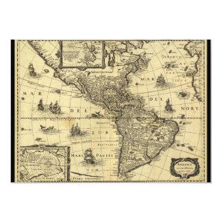 Mapa de América Noviter Delineata (1640) Convite 12.7 X 17.78cm