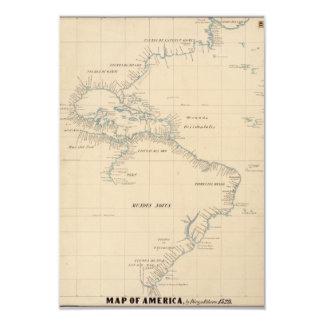 Mapa de América por Diego Ribero 1529 Convites Personalizado