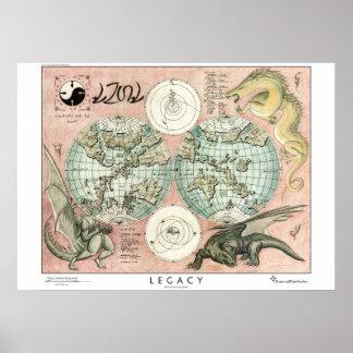 Mapa de Atanoah, estilo arcaico Pôster