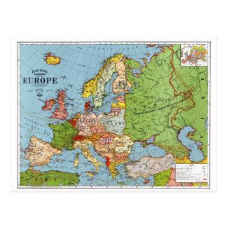 Mapa de Europa Cartão Postal