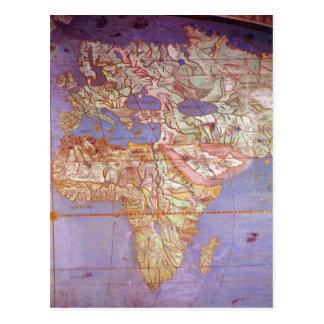 Mapa de Europa e de África Cartão Postal