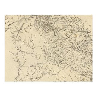 Mapa de Geórgia por Arrowsmith Cartão Postal