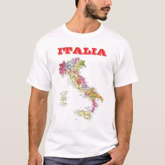 Mapa de Italia Camiseta