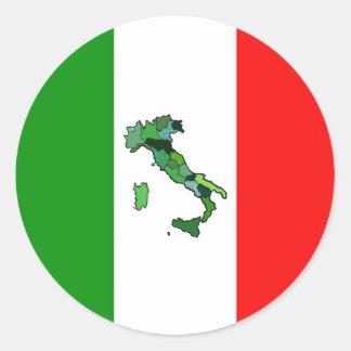 Mapa de Italia e da bandeira italiana Adesivo
