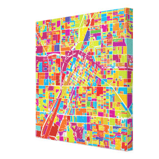 Mapa de Las Vegas colorido, Nevada