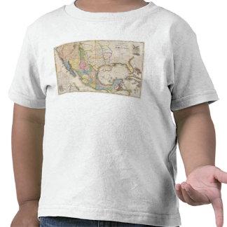 Mapa de los Estados Unidos De Mejico Camiseta
