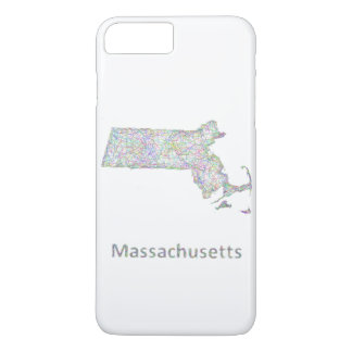 Mapa de Massachusetts Capa iPhone 7 Plus