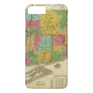 Mapa de Massachusetts e de Connecticut Capa iPhone 7 Plus