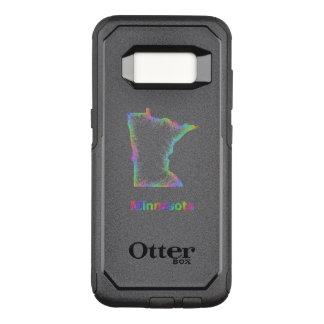 Mapa de Minnesota do arco-íris Capa OtterBox Commuter Para Samsung Galaxy S8