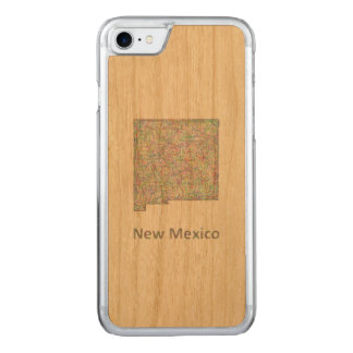 Mapa de New mexico Capa iPhone 7 Carved