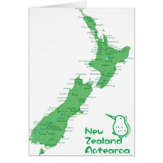 Mapa de Nova Zelândia Cartão