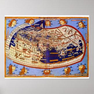 Mapa de Ptolemy Pôster