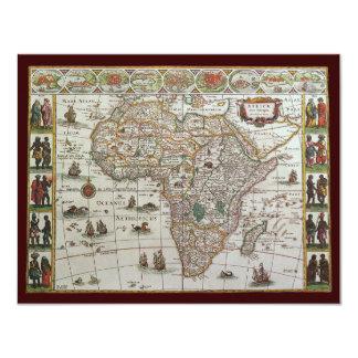 Mapa de Velho Mundo antigo de África, convite 1635