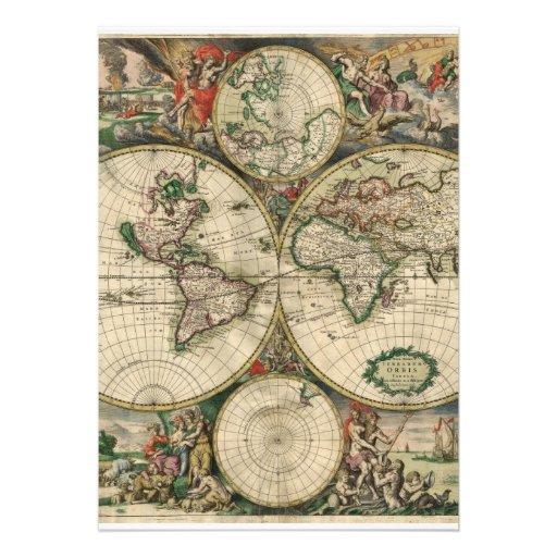 Mapa de Velho Mundo Convite