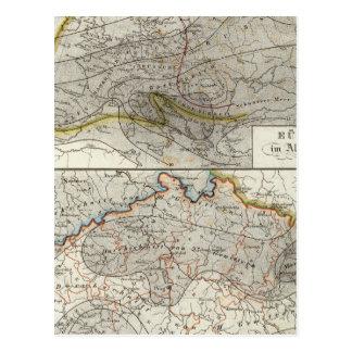 Mapa do clima de Europa Cartão Postal