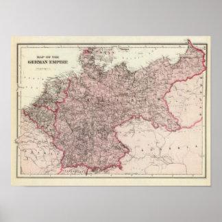 Mapa do império alemão poster
