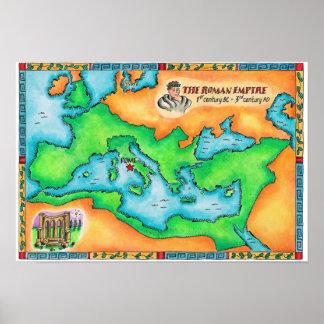 Mapa do império romano poster