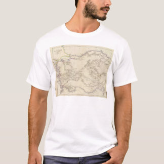 Mapa do menor de Ásia Tshirt