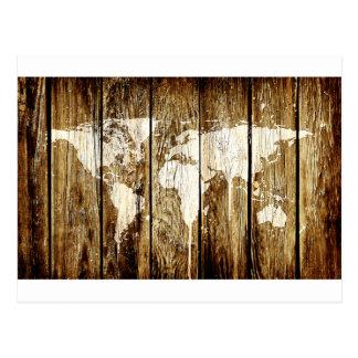 mapa do mundo 2 do celeiro cartão postal