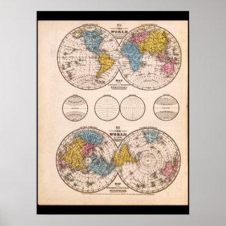 Mapa do mundo amadurecido 28 pôster