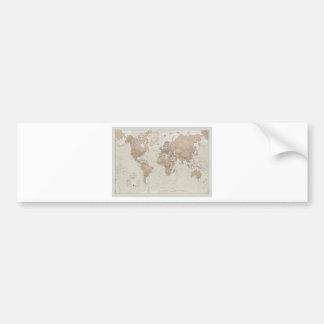 Mapa do mundo antigo adesivo para carro