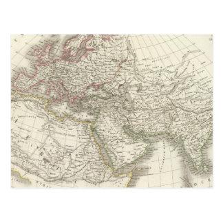 Mapa do mundo conhecido aos antigos cartão postal