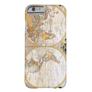 Mapa do mundo duplo antigo do hemisfério capa barely there para iPhone 6