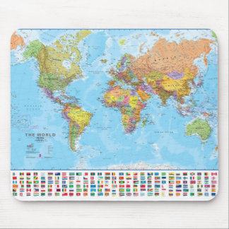 Mapa do mundo Mousepad/Mousemat Mouse Pad