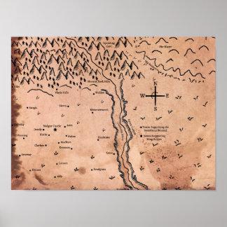 Mapa do poster de Acktar Pôster