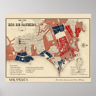 Mapa do poster de Malandros Rio de Janeiro Pôster