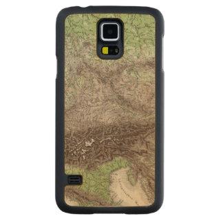 Mapa do rio e da montanha de Alemanha Capa Slim De Bordo Para Galaxy S5