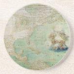 Mapa do século XVII os Americas por Claude Bernou Porta Copos Para Bebidas