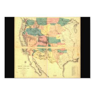Mapa do território dos Estados Unidos (1858) Convite 12.7 X 17.78cm