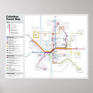 Mapa do trânsito de Columbo da fantasia Pôster
