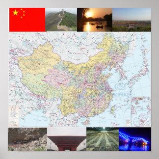 Mapa do viagem da China de Jamie Poster