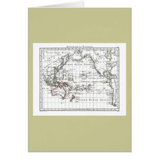 Mapa do vintage 1806 - Australasie e Polynesie Cartão
