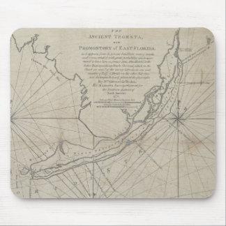 Mapa do vintage das chaves de Florida (1771) (2) Mouse Pads