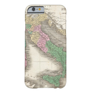 Mapa do vintage de Italia (1827) Capa Barely There Para iPhone 6