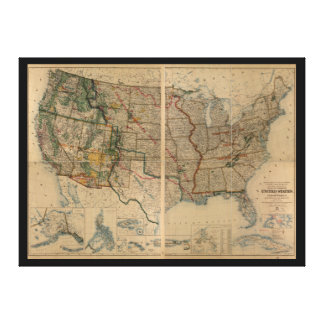 Mapa dos Estados Unidos com Território (1923)