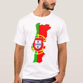 Mapa e bandeira de Portugal Camiseta